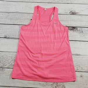 Under Armour Womens racer back tank top pink med